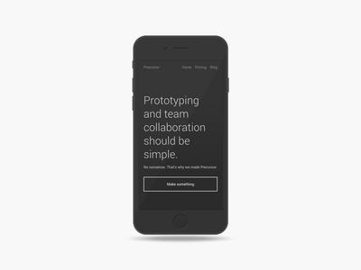 Minimal Mobile Mockup minimal mobile mockup prototyping app lightweight iphone template landing page