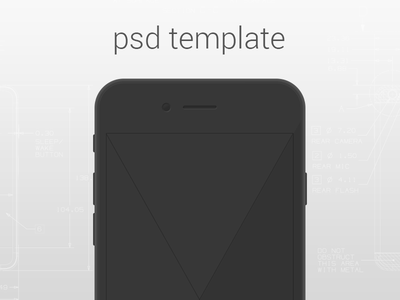 Simple iPhone 6 Template simple iphone 6 psd template