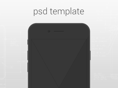 Simple iPhone 6 Template simple iphone 6 psd template