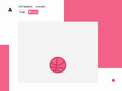 Dribbble loader animation dribbble freebie lottiefiles gift spinner loeader free json lottie logo icon ae motion after effects gif loop animation