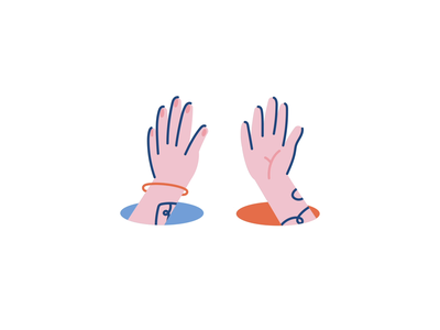 Hive five \ (•◡•) / vector tatto fingers five hive five hand ui icon stroke illustration character after effects loop animation