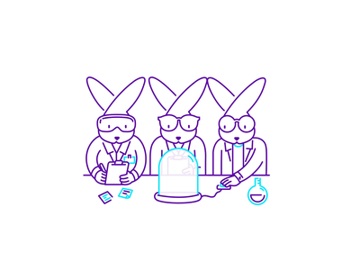 Rabbits animation lottiefiles json lottie motion bunny lab sprint design sprint aftereffects stroke character after effects loop animation