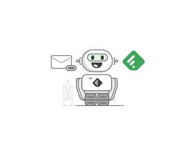 Feedly animation aftereffects robot mail json lottie files lottie stroke ae motion character after effects loop animation