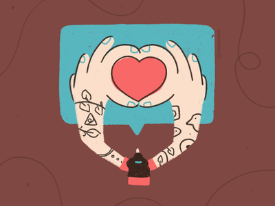 Positive comments keep concept illustration kyles brush heart said tell love comment woman tatto photoshop illustrator