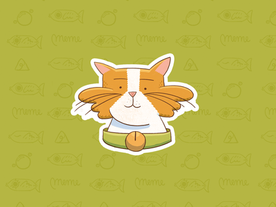 Meme pack stickers 3 sticker ae procreate cute emoji cat stroke illustration motion character after effects loop gif animation