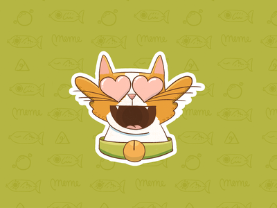 Meme pack stickers 2 instagram sticker cartoon smile meme wow emoji procreate cute cat aftereffects stroke illustration ae motion character after effects loop gif animation