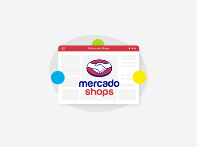 Mercado shops III progress sketch design branding ui logo icon ae motion after effects loop animation