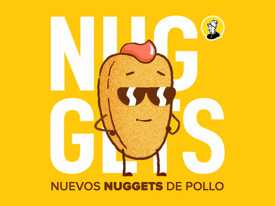 Nuggets (▀̿Ĺ̯▀̿ ̿) crispy expression emoji wink cool vector stroke ae motion character after effects loop animation