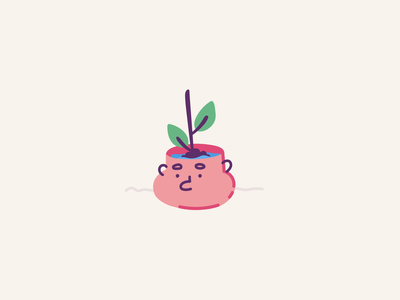 Smart flowerpot - Full of water water green plant 2d icon stroke ae illustration motion character after effects loop animation