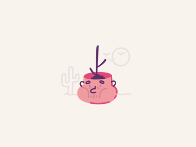 Smart flowerpot - Need water pot deserted thirst sad plant lottiefiles vector stroke ae illustration motion character after effects loop gif animation