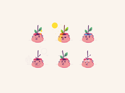 Smart flowerpot - Freezing 🥶 free json lottie lottiefiles smart snow stroke vector character cute face green cool freezing plant por illustration after effects motion graphics animation