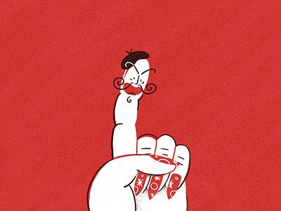 Malefic finger francia frances french bad evil illustration mindcentury character finger procreate