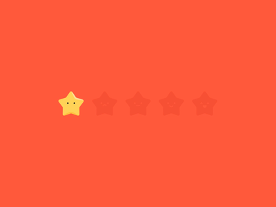 Stars animation ui motion ui sparkle shine full bad happy ae review character star icon motion after effects loop animation