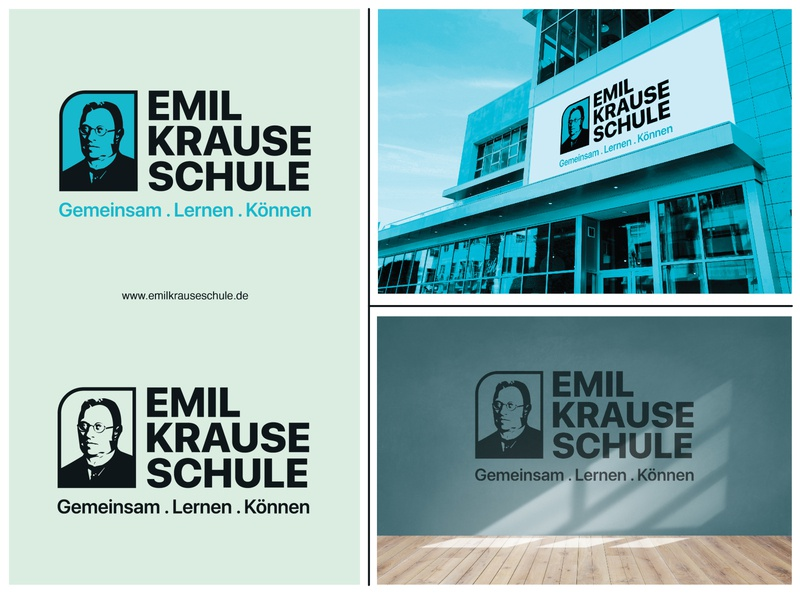 Emil Krause School logo, Germany