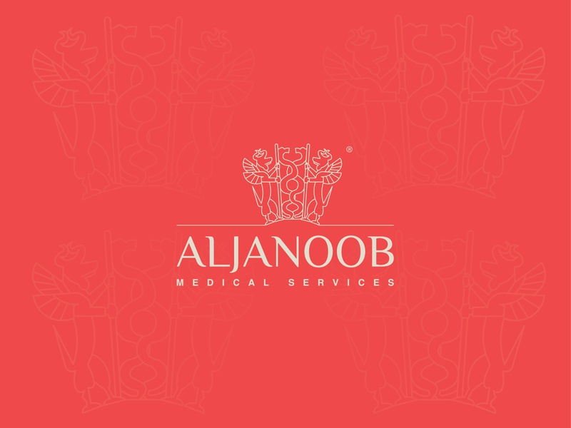 ALJANOOB for medical services logo brand and identity logodesign graphic behance graphic design brand identity brand design branding brand logo identity logo ideas logo design logotype logos logo