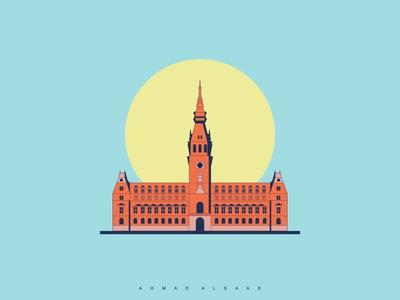 Hamburg city hall, Germany. illustrations adobe city hall graphicdesign germany design illustration art hamburg vector city illustration behance illustrator graphic design graphic landmark illustraion