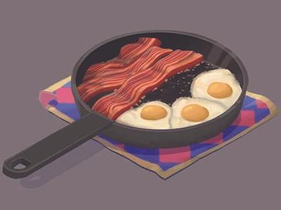 Howl's Breakfast breakfast food anime food art anime