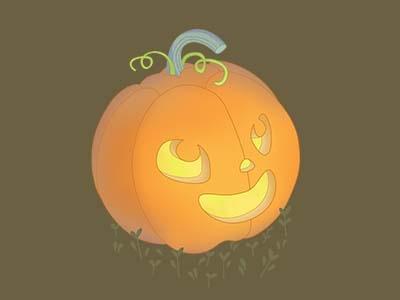 Cute Jack-o'-lantern smile pumkin illustration cute
