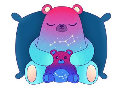 bear constellation universe animal doll sleep colorful cute star constellation bear