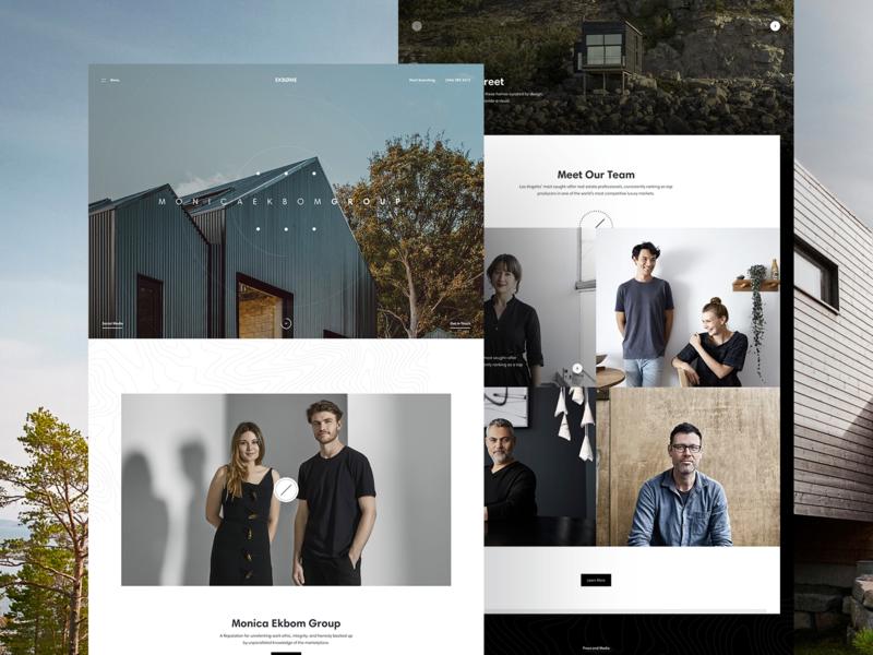 Ekbøme architecture houses landing webpage webdesign website web ui
