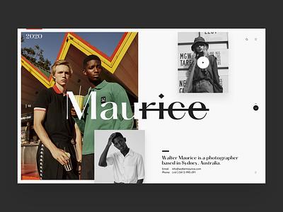 Maurice editorial photography animation webpage webdesign website web ui