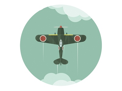 Airplane airplane plane fighter art ww2 illustration artwork japanese