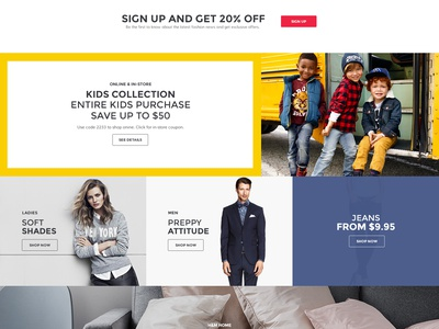 H&M Homepage Redesign hm redesign web website splashpage webdesign page clean simple concept