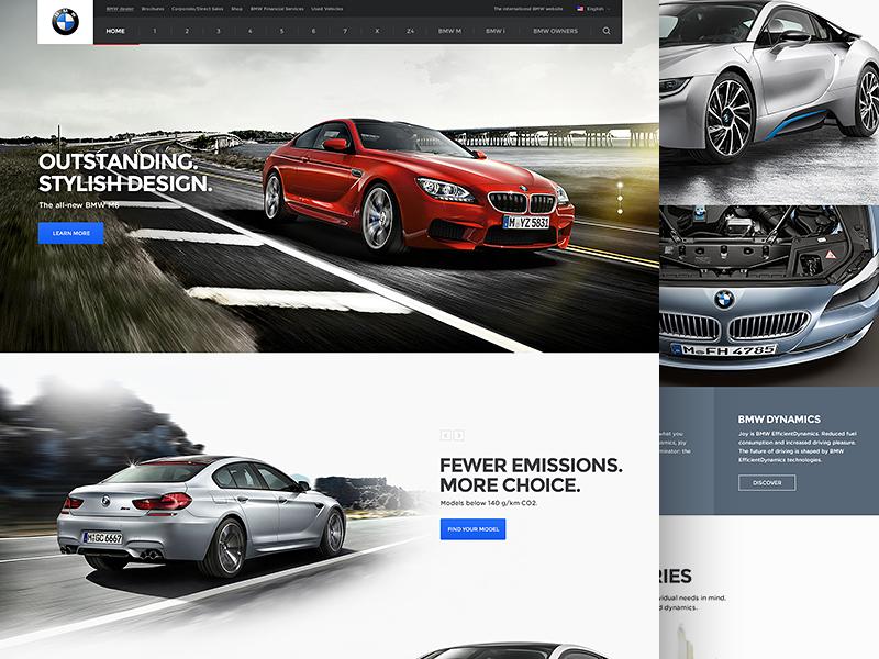 BMW clean page splashpage website simple webdesign bmw web