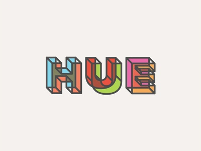 Hue letters type typography hue illustration colors font lettering