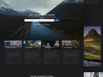 Iceland.is Redesign ui redesign concept iceland splashpage website webdesign web