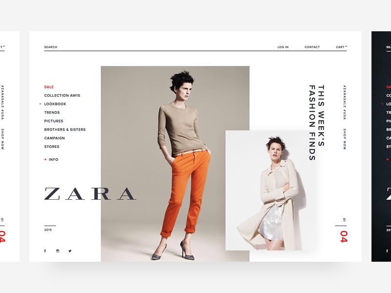 Zara homepage zara concept website ui webdesign web