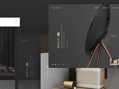 Bang & Olufsen concept bangolufsen landing ui web web design webpage website minimalistic simple