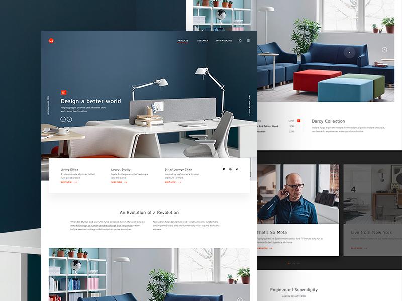 Herman Miller hermanmiller concept website webpage webdesign web ui landing