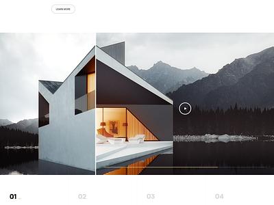Architecture architecture website webpage webdesign web ui landing