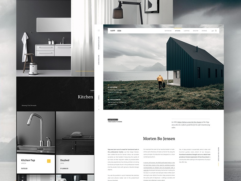Vipp website webpage webdesign web ui landing vipp