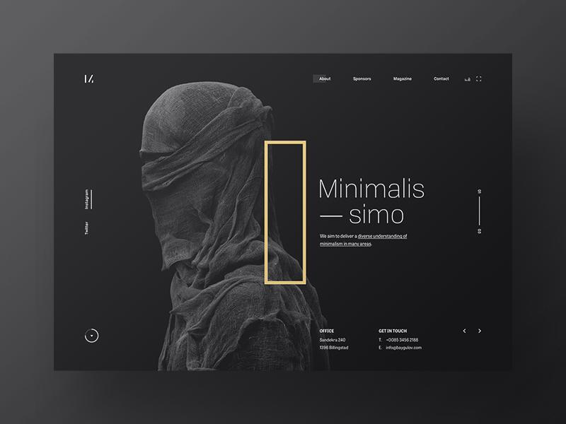 Minimalissimo 2 minimal website webpage webdesign web ui landing