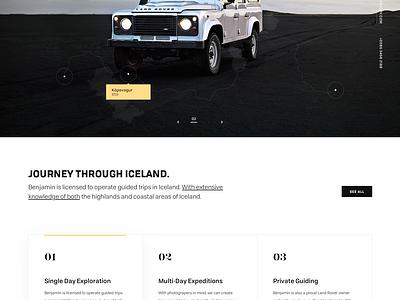 Ben Hardman website webpage webdesign web ui simple landing