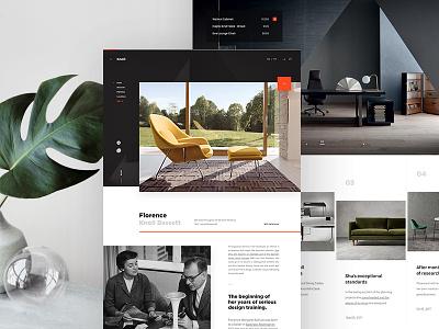 Knoll landing ui web webdesign webpage website knoll
