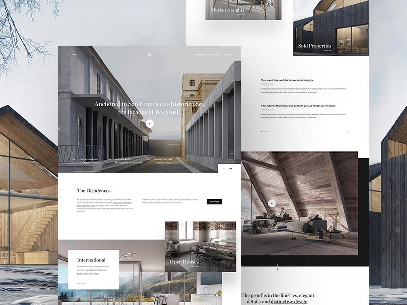 Real Estate Landing Page landing simple ui web webdesign webpage website