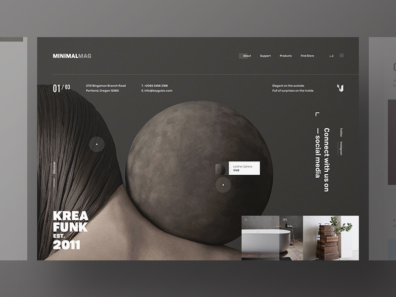 Minimal Mag website webpage webdesign web ui simple landing