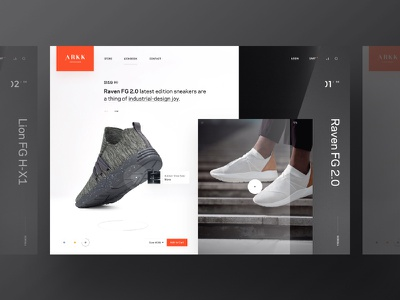 Arkk Store arkk website webpage webdesign web ui simple landing