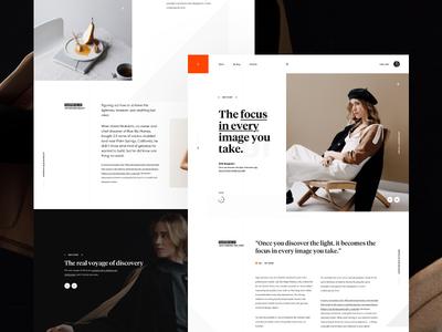 Ellie Baygulov Blog blog landing simple ui web webdesign webpage website