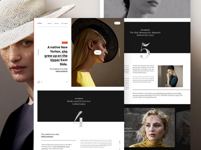 edmé website webpage webdesign web ui simple landing