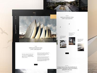 Flåm simple splashpage landing webpage webdesign website web ui
