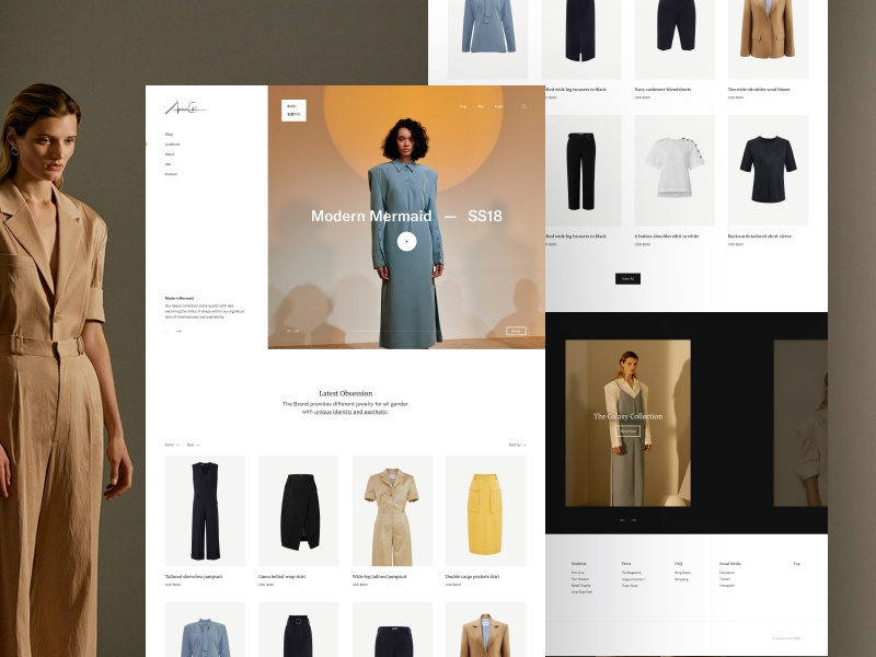 Minimal Store e-commerce store landing webpage webdesign website web ui minimal