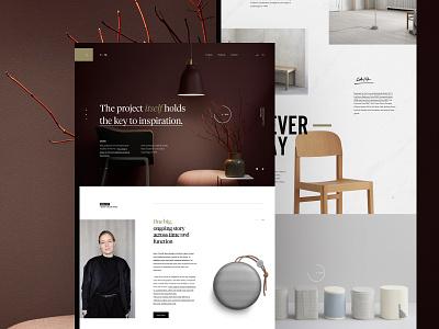 Cecilie Manz // Industrial Designer landing webpage webdesign website web ui