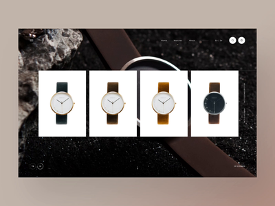 Ormous watch animation webpage webdesign website web ui
