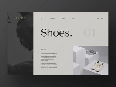 Kaiser // / Slideshow animation webpage webdesign website web ui