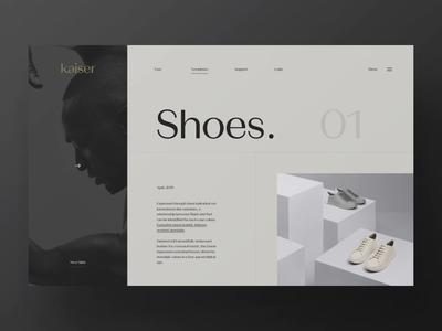 Kaiser // / Slideshow animation webpage webdesign website web ui