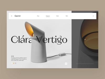 Gantri // Color Picker landing animation webpage webdesign website web ui